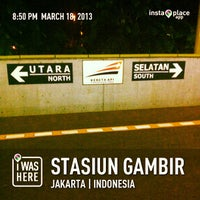 Photo taken at Stasiun Gambir by Beem B. on 3/18/2013