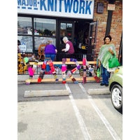 Photo taken at A Major Knitwork by Jameelah W. on 4/4/2014