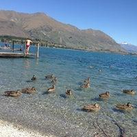 Photo taken at Lake Wanaka by Diana S. on 1/22/2013