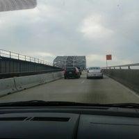 Photo taken at Huey P. Long Bridge by R K. on 1/12/2013