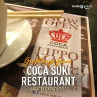 Photo taken at Coca Suki Restaurant by Decky Y. on 4/9/2013