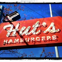 Photo taken at Hut's Hamburgers by Paul D. on 2/16/2013