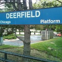 Photo taken at Metra - Deerfield by Anie D. on 5/27/2013