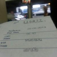 Photo taken at ท่ารถ บริษัท ศรีราชาทัวร์ จำกัด หนองมน by Ljungkings K. on 9/27/2013