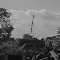 Photo taken at Staten Island Tugboat Graveyard by Bienvenido C. on 10/7/2013