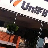 Photo taken at Centro Universitário Filadélfia (UniFil) by Amanda M. on 3/4/2013