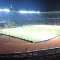 Photo taken at Stadion Utama Gelora Bung Karno (GBK) by Alan N. on 7/14/2013