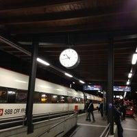 Photo taken at Bahnhof Biel / Gare de Bienne by ollka on 1/30/2013