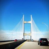 Photo taken at Napoleon Bonaparte Broward (Dames Point) Bridge by Santy M. on 1/11/2013