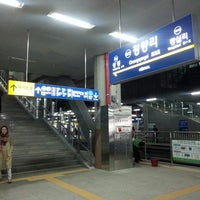 Photo taken at Cheongnyangni Stn. by Mark Neville on 3/31/2013