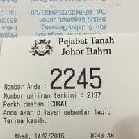 Photo taken at Pejabat Tanah Daerah Johor Bahru by Mohamad A. on 2/14/2016