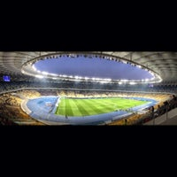 Photo taken at Olimpiyskiy Stadium by Tipsterovich on 10/27/2013