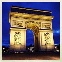 Photo taken at Arc de Triomphe by Pam S. on 5/29/2013