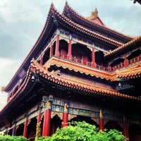 Photo taken at Yonghegong Lama Temple by Thitiwat T. on 5/24/2013
