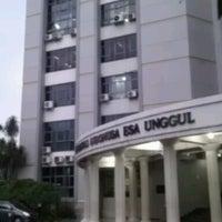 Photo taken at Universitas Esa Unggul by Kusumo W. on 3/20/2013