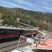 Photo taken at Ferrocarril Chihuahua Pacífico (Chepe) Estación Divisadero by Tere G. on 6/29/2013