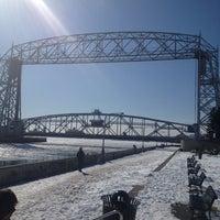 Photo taken at Duluth Lift Bridge by Amanda W. on 3/2/2013