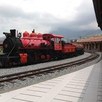 Photo taken at Estación de Tren Chimbacalle by Mauricio G. on 3/17/2013