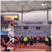 Photo taken at Incheon Munhak Stadium by ryats on 3/29/2015