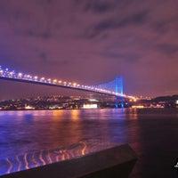 Photo taken at Bosphorus Bridge by Ayhan Ö. on 7/27/2013