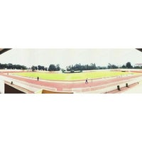 Photo taken at Velodrome Rawamangun by Raisyah A. on 2/13/2014