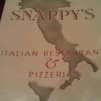 Photo taken at Snappy's Italian Restaurant & Pizzeria by Ashley G. on 1/19/2013