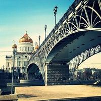 Photo taken at Patriarshiy Bridge by А Л. on 4/11/2013