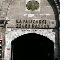 Photo taken at Beyazıt - Kapalıçarşı Tramvay Durağı by Cem U. on 3/18/2013