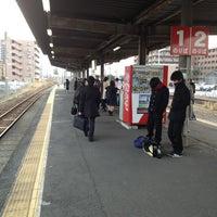 Photo taken at Takajo Station by fuya on 2/27/2013
