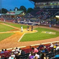 Photo taken at Whitaker Bank Ballpark by anne b. on 5/10/2013