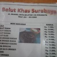 Photo taken at Spesial Belut Surabaya H. Poer by Diana on 12/24/2013