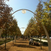 Photo taken at Klyde Warren Park by Coby C. on 11/4/2012