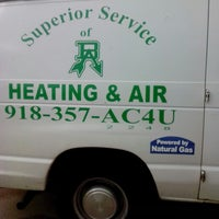 Photo taken at Superior Service of Broken Arrow Heating and Air by Patrick C. on 5/30/2013