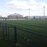 Photo taken at Dick Dlesk Soccer Stadium by Nikki L. on 4/9/2014