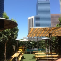 Photo taken at The Biergarten at The Standard, Downtown LA by Kurt G. on 7/15/2013