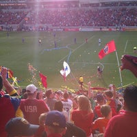 Photo taken at Rio Tinto Stadium by Nicole H. on 3/16/2013