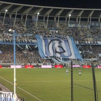 Photo taken at Estadio Juan Domingo Perón (Racing Club) by Diego V. on 1/12/2013