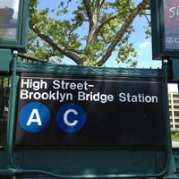 Photo taken at MTA Subway - High St/Brooklyn Bridge (A/C) by Andrea M. on 6/2/2013