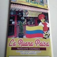 Photo taken at La Ruana Paisa Colombian Restaurant by Juan D. on 1/23/2013