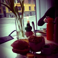 Photo taken at TOBIs Café by Steffi G. on 2/1/2013