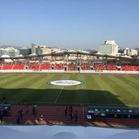Photo taken at Tancheon Sports Complex Stadium by Minseok P. on 11/20/2016