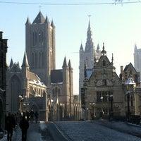 Photo taken at Sint-Michielsbrug by John B. on 1/22/2013