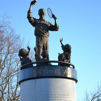 Photo taken at Arthur Ashe Monument by David H. on 1/19/2013