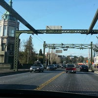 Photo taken at Montlake Bridge by Karene H. on 4/2/2013