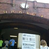 Photo taken at Hibiya Public Hall by Hirokazu H. on 6/8/2013