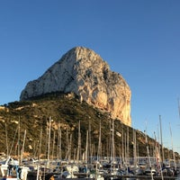 Photo taken at Puerto Ifach by Andrea on 2/15/2013