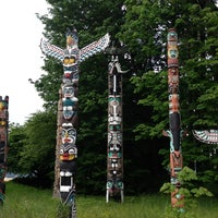 Photo taken at Totem Poles in Stanley Park by Nicole M. on 5/31/2013