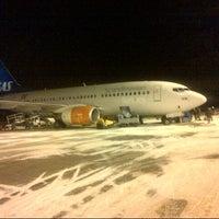Photo taken at Kristiansand Lufthavn, Kjevik (KRS) by Lamberto P. on 1/14/2014