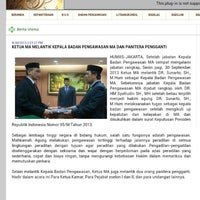 Photo taken at Badan Pengawasan Mahkamah Agung - RI by Ferri T. on 10/1/2013