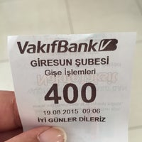 Photo taken at VakıfBank by Gizem U. on 8/19/2015